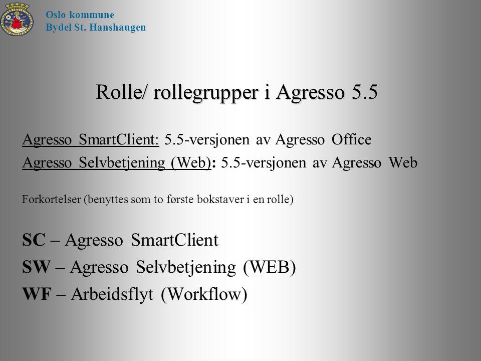 Rolle/ rollegrupper i Agresso 5.5