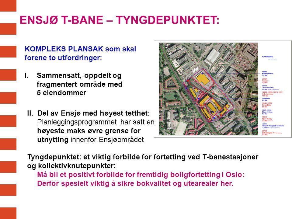 ENSJØ T-BANE – TYNGDEPUNKTET: