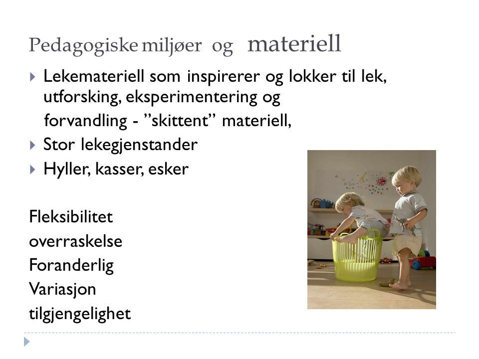 Pedagogiske miljøer og materiell