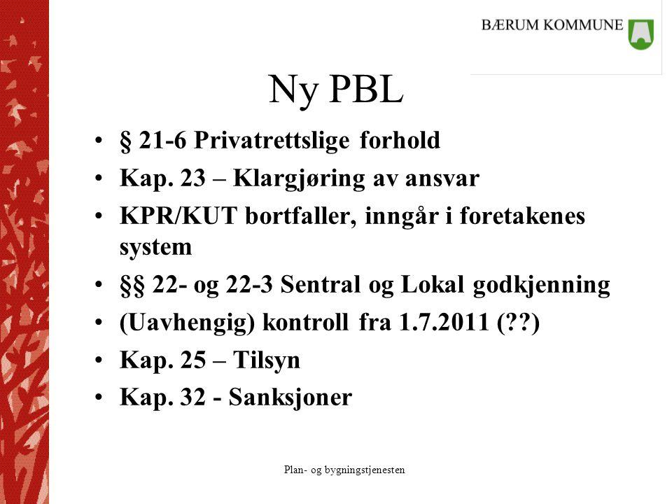 Ny PBL § 21-6 Privatrettslige forhold Kap. 23 – Klargjøring av ansvar