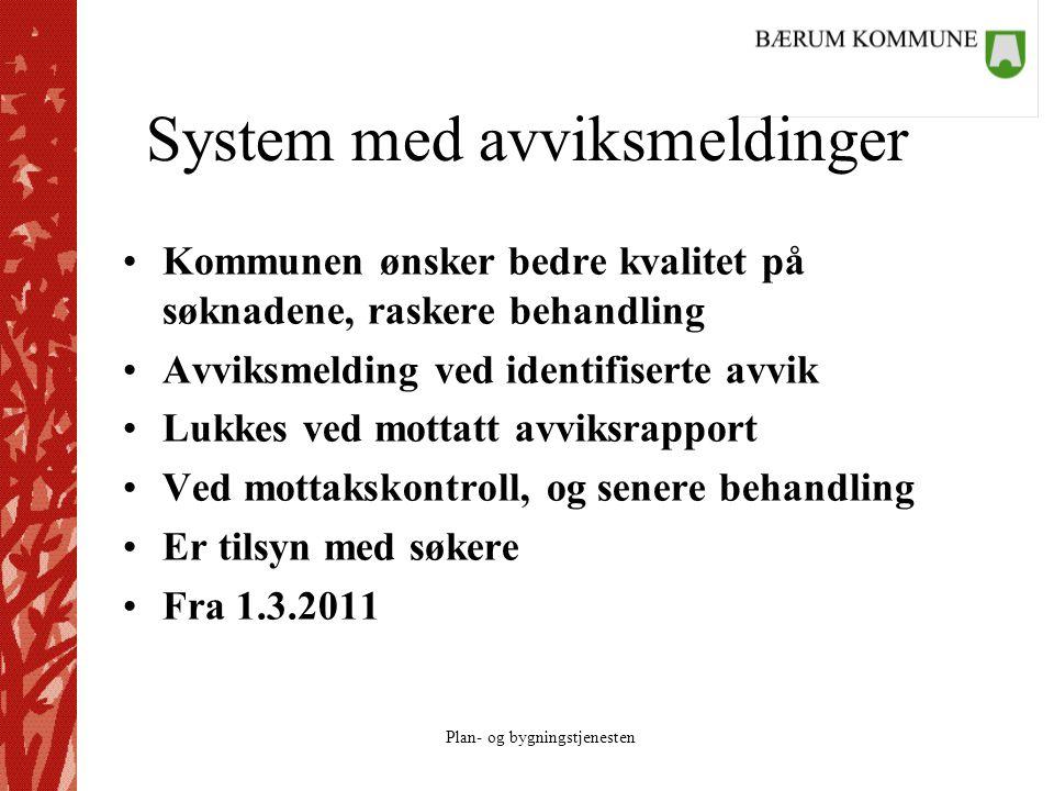System med avviksmeldinger