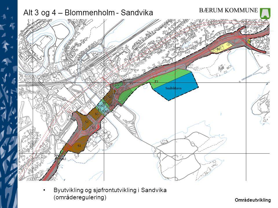 Alt 3 og 4 – Blommenholm - Sandvika