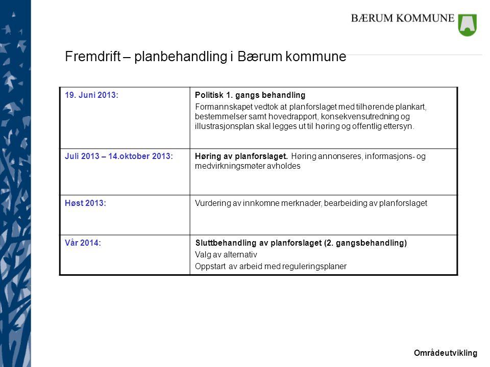 Fremdrift – planbehandling i Bærum kommune