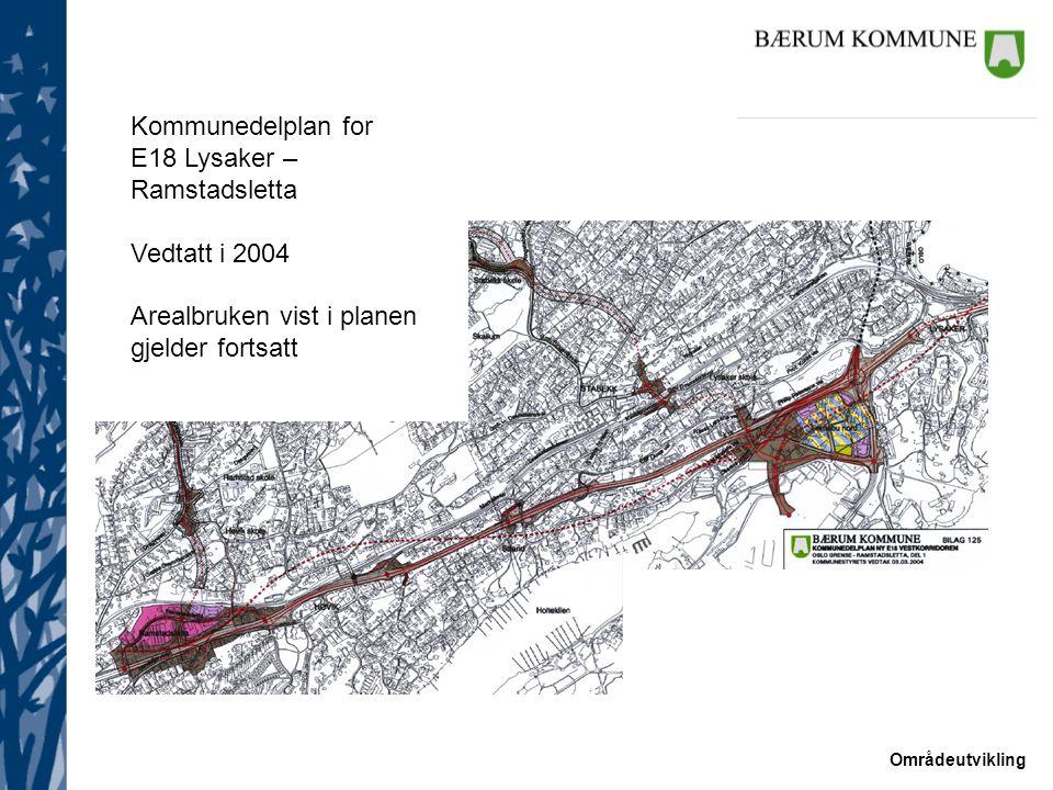Kommunedelplan for E18 Lysaker – Ramstadsletta