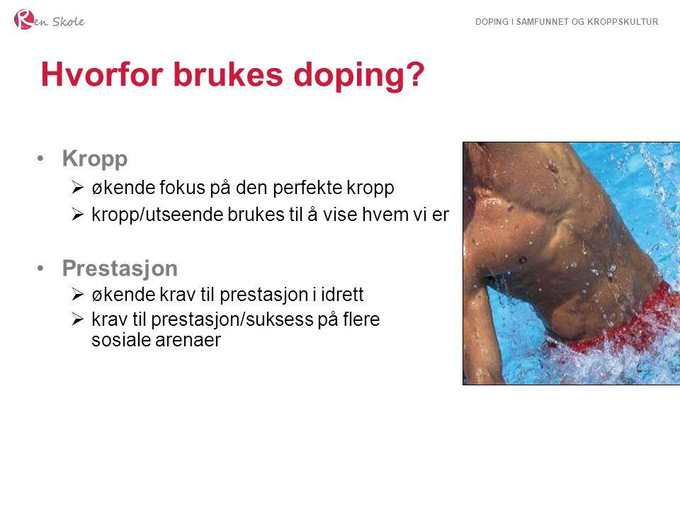 Hvorfor brukes doping Kropp Prestasjon