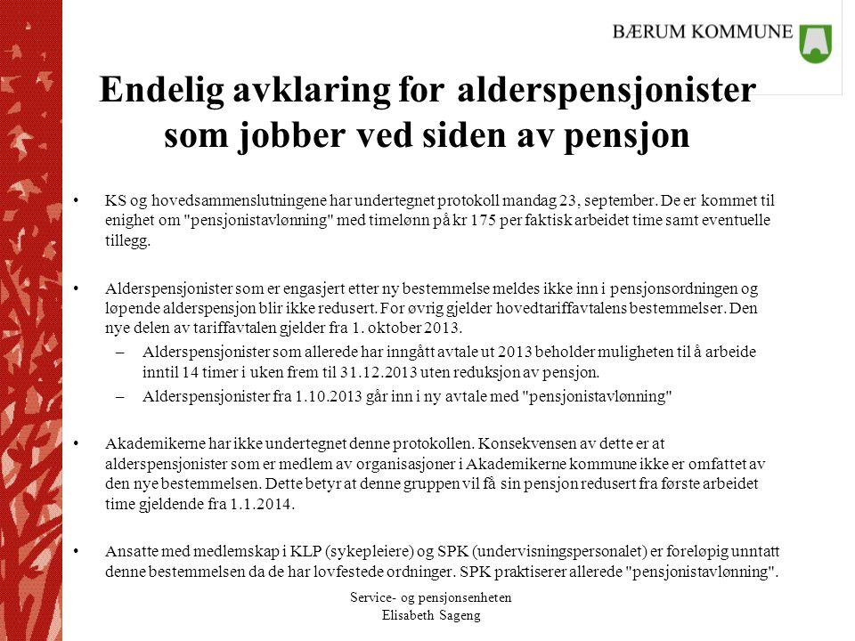 Endelig avklaring for alderspensjonister som jobber ved siden av pensjon