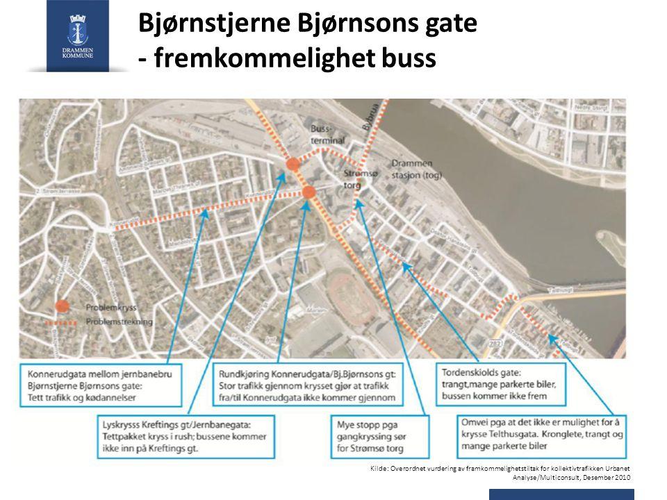 Bjørnstjerne Bjørnsons gate - fremkommelighet buss