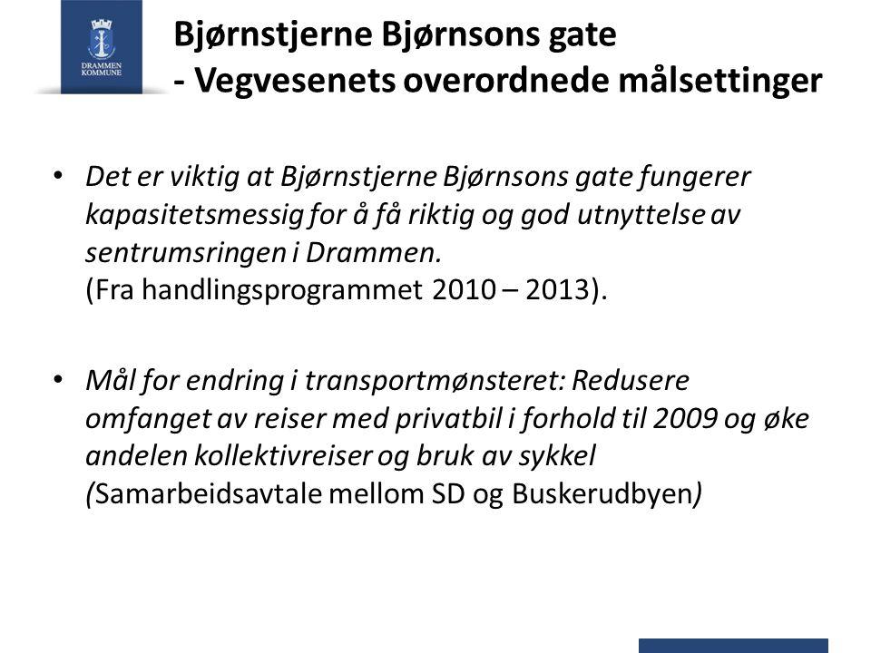 Bjørnstjerne Bjørnsons gate - Vegvesenets overordnede målsettinger