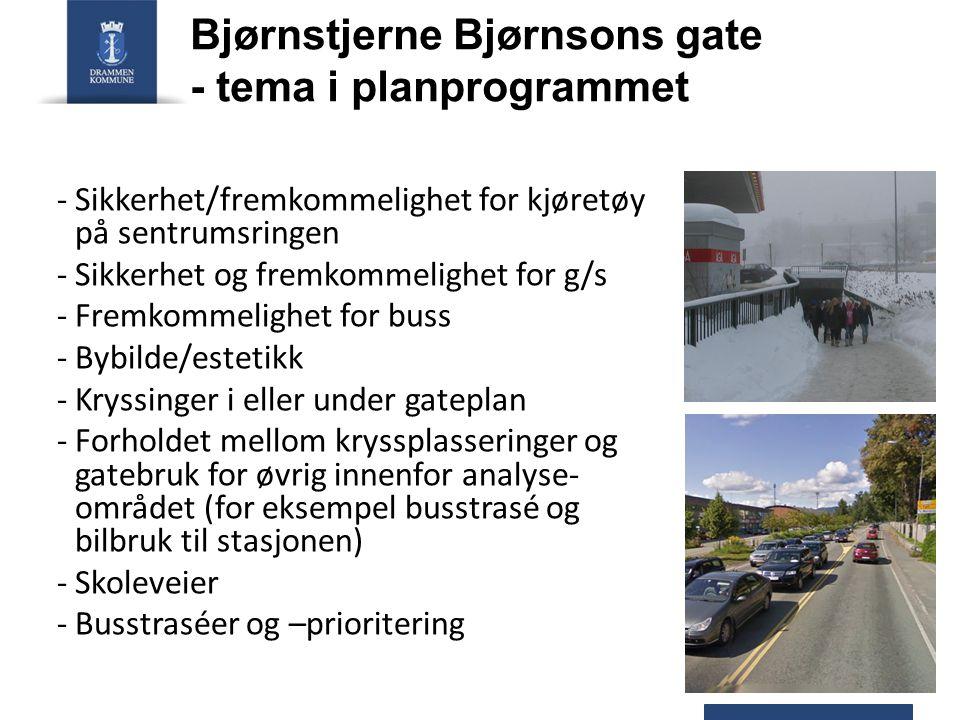 Bjørnstjerne Bjørnsons gate - tema i planprogrammet