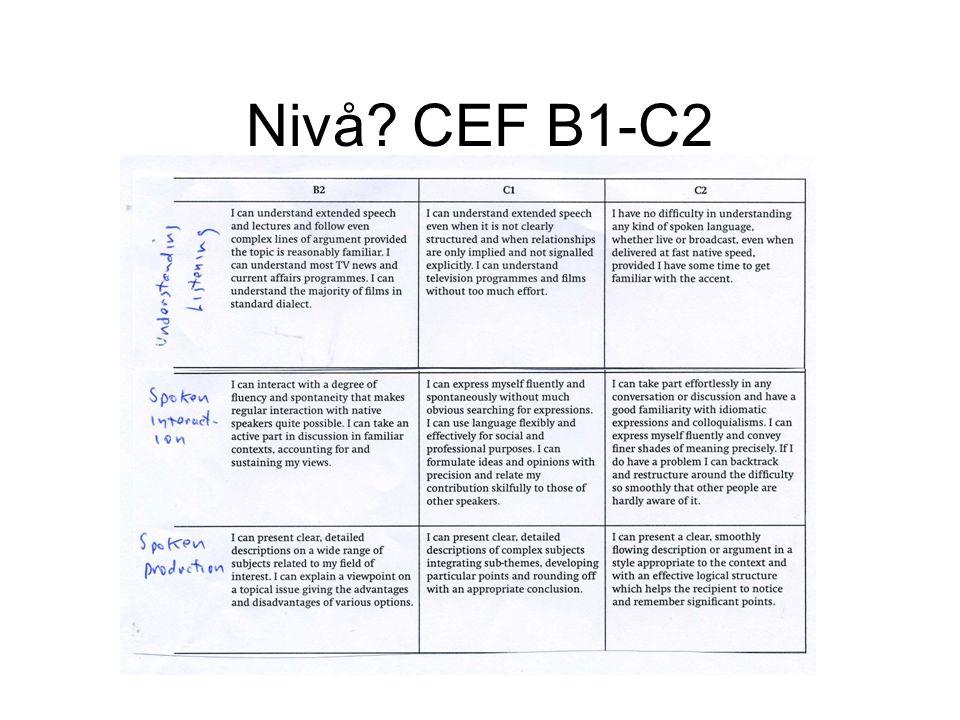 Nivå CEF B1-C2