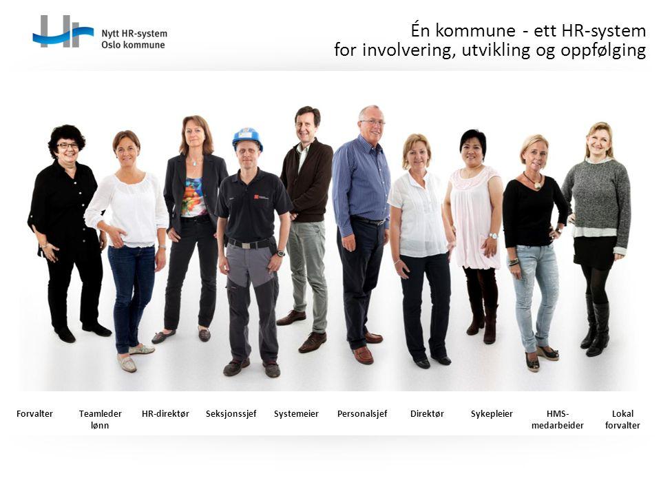 Én kommune - ett HR-system for involvering, utvikling og oppfølging