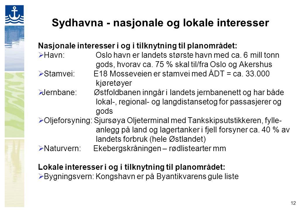 Sydhavna - nasjonale og lokale interesser