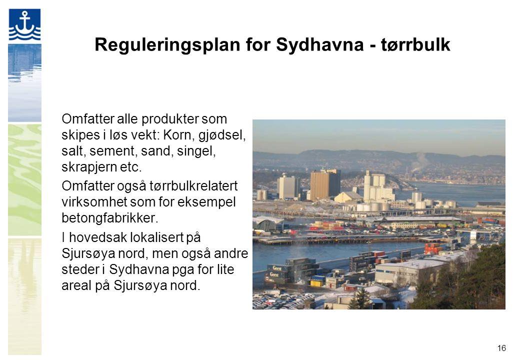 Reguleringsplan for Sydhavna - tørrbulk