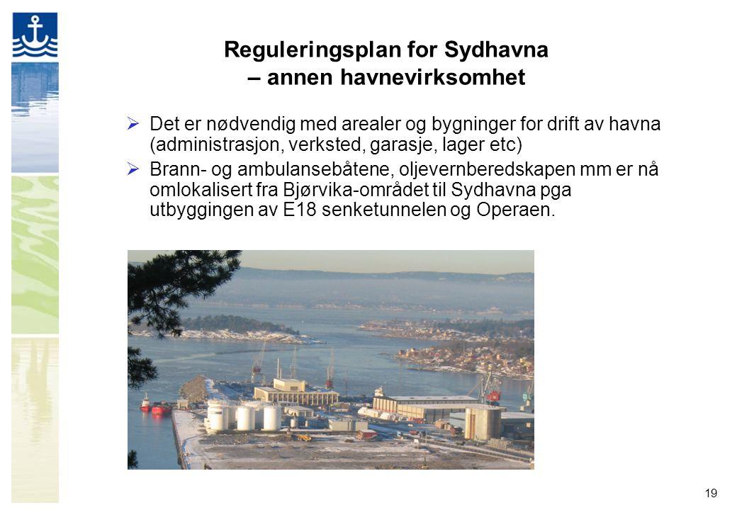 Reguleringsplan for Sydhavna – annen havnevirksomhet