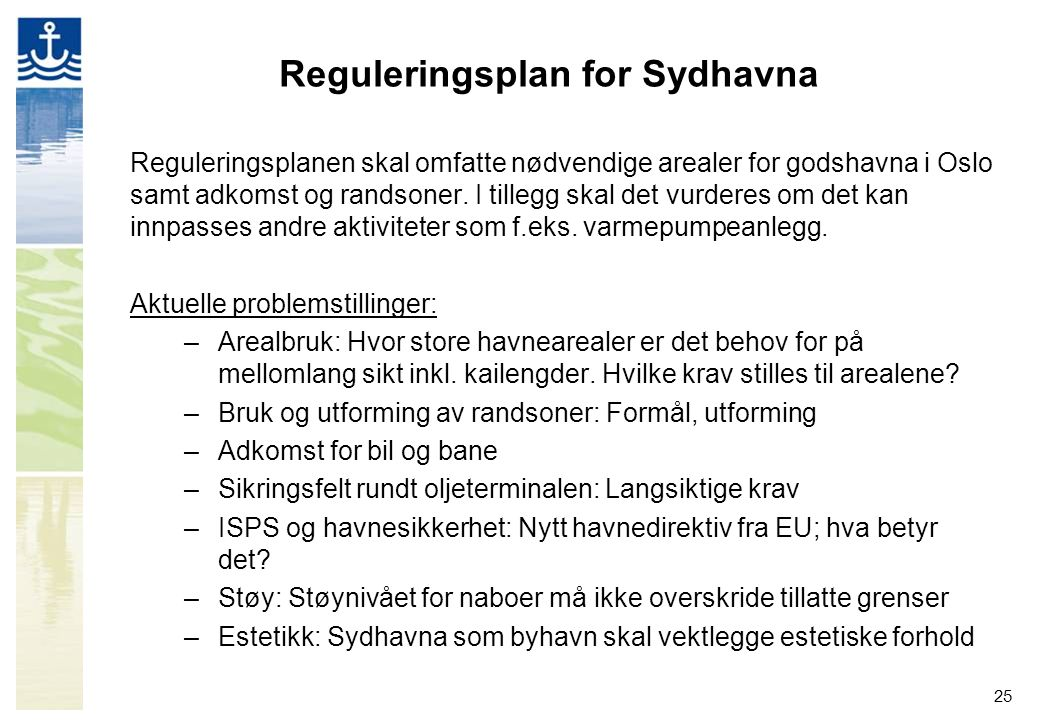 Reguleringsplan for Sydhavna