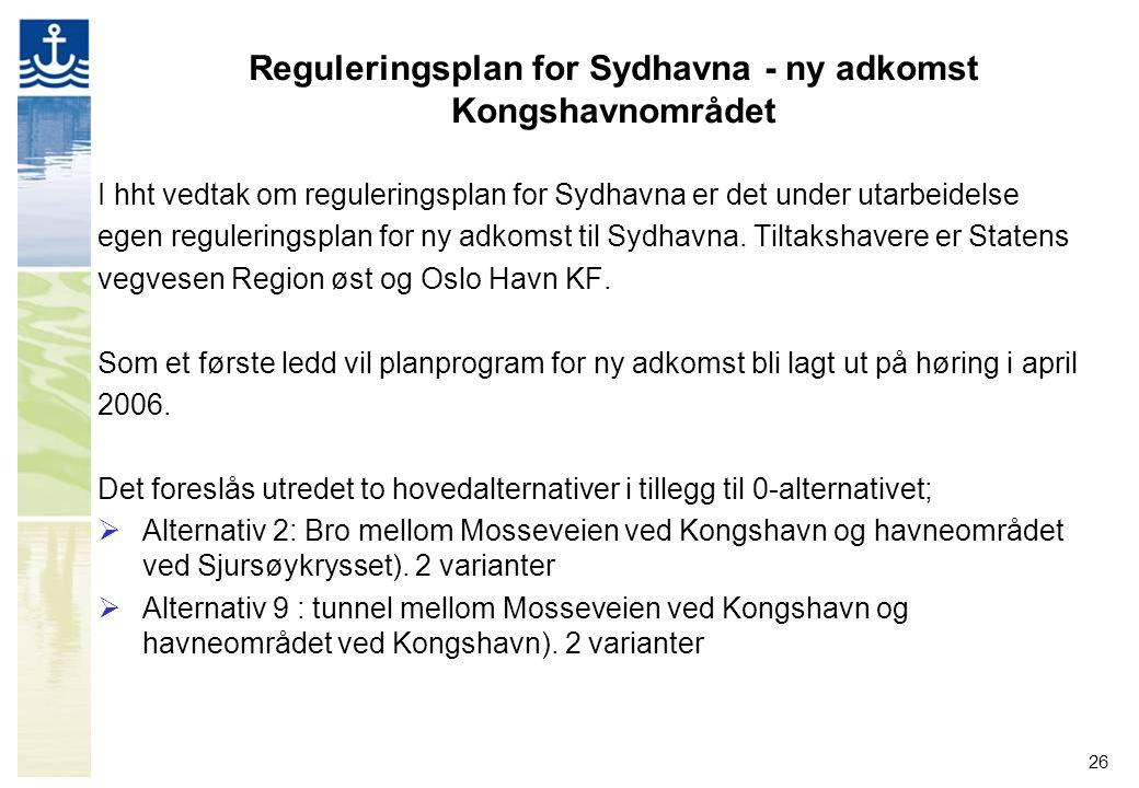 Reguleringsplan for Sydhavna - ny adkomst Kongshavnområdet
