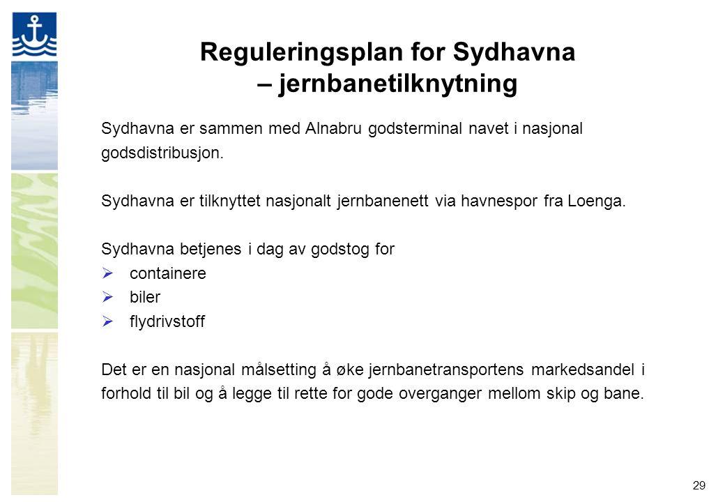 Reguleringsplan for Sydhavna – jernbanetilknytning