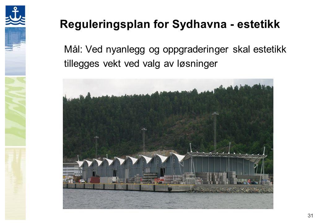 Reguleringsplan for Sydhavna - estetikk