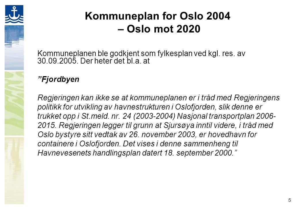 Kommuneplan for Oslo 2004 – Oslo mot 2020