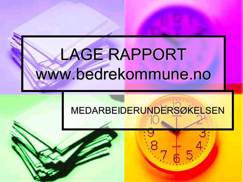 LAGE RAPPORT www.bedrekommune.no