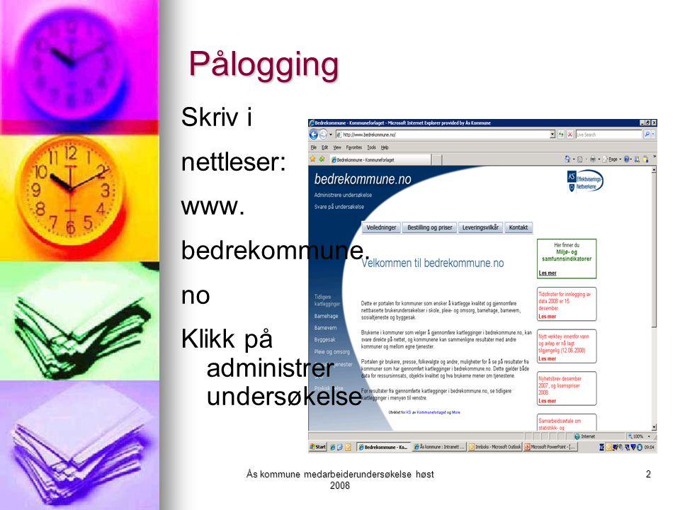Ås kommune medarbeiderundersøkelse høst 2008