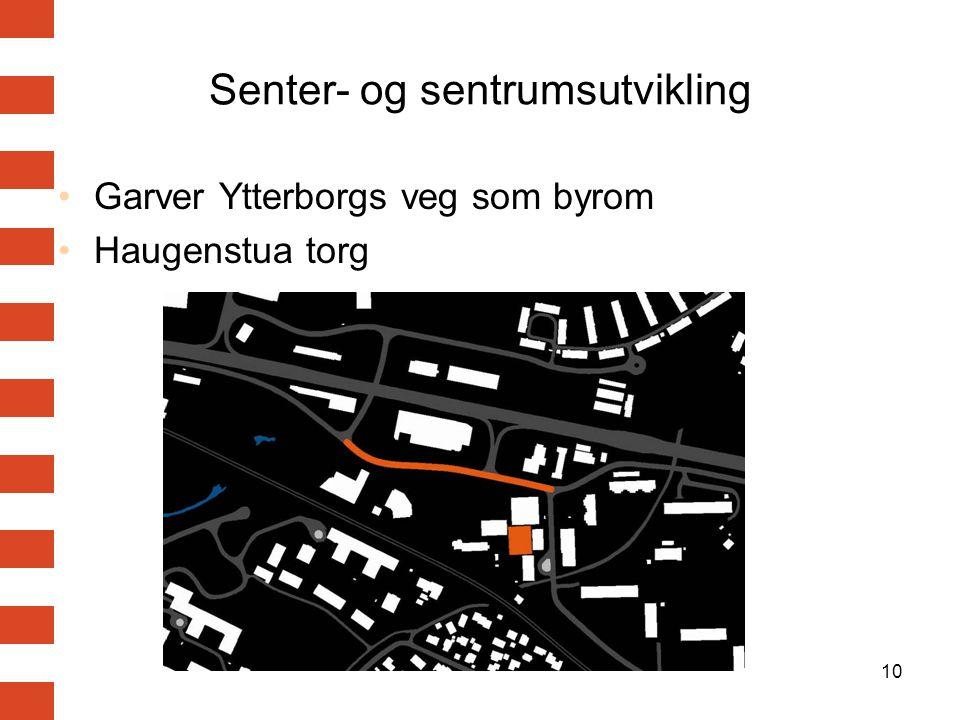 Senter- og sentrumsutvikling