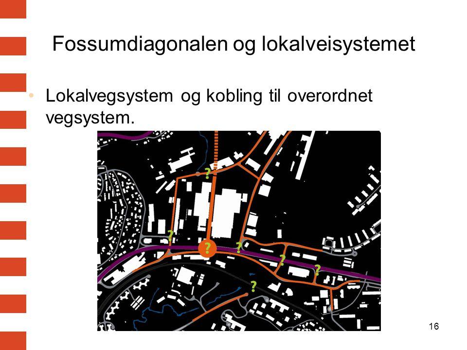 Fossumdiagonalen og lokalveisystemet
