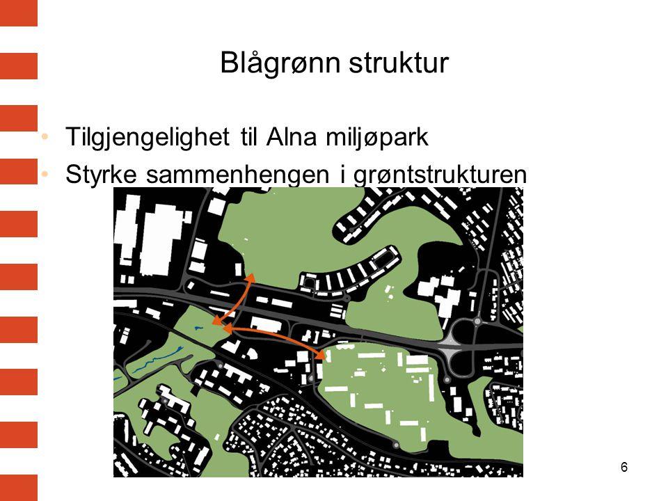 Blågrønn struktur Tilgjengelighet til Alna miljøpark