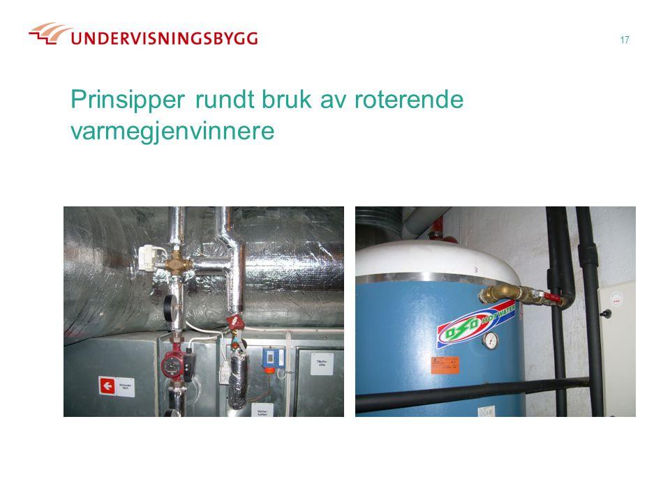 Prinsipper rundt bruk av roterende varmegjenvinnere