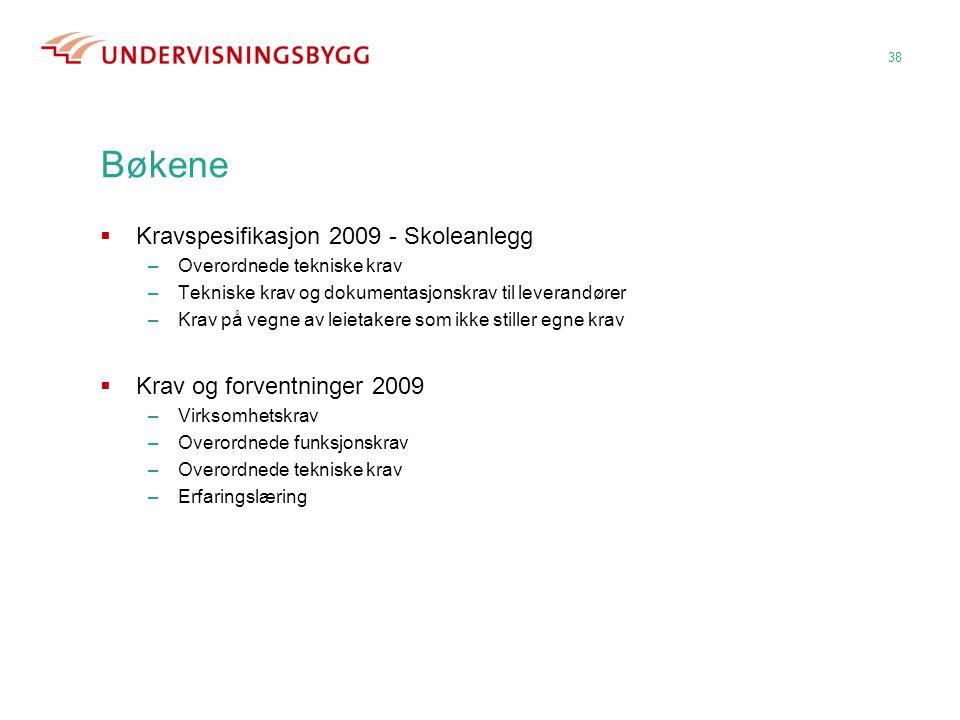 Bøkene Kravspesifikasjon 2009 - Skoleanlegg Krav og forventninger 2009