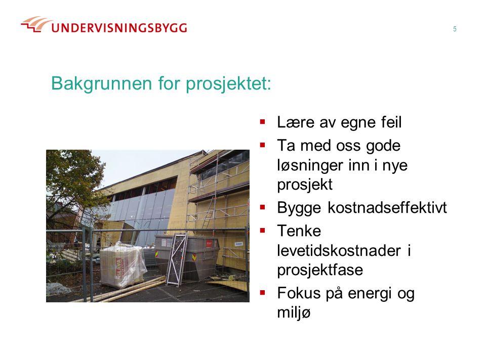 Bakgrunnen for prosjektet: