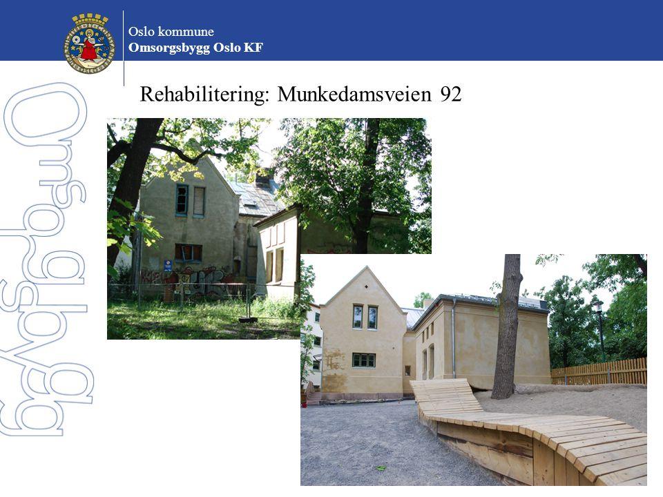 Rehabilitering: Munkedamsveien 92