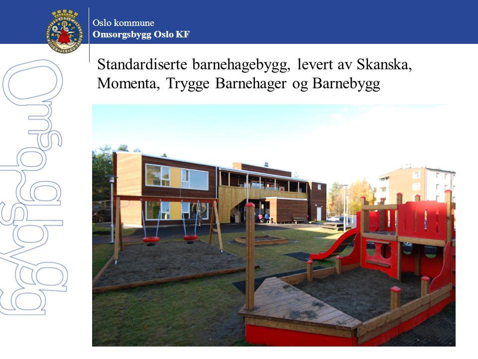 Standardiserte barnehagebygg, levert av Skanska,