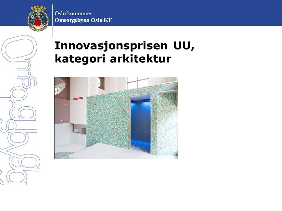Innovasjonsprisen UU, kategori arkitektur