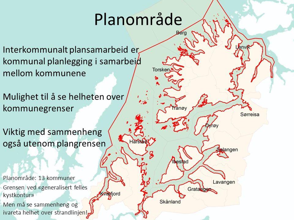 Planområde Interkommunalt plansamarbeid er kommunal planlegging i samarbeid mellom kommunene. Mulighet til å se helheten over kommunegrenser.