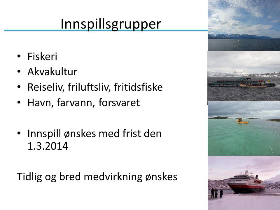 Innspillsgrupper Fiskeri Akvakultur