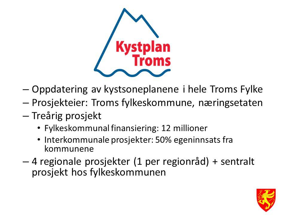 Oppdatering av kystsoneplanene i hele Troms Fylke