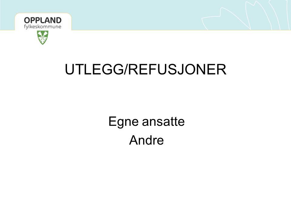 Egne ansatte Andre UTLEGG/REFUSJONER