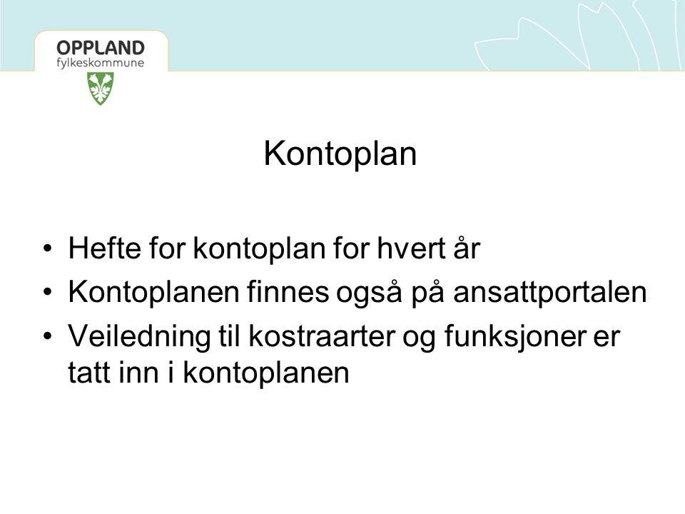 Kontoplan Hefte for kontoplan for hvert år