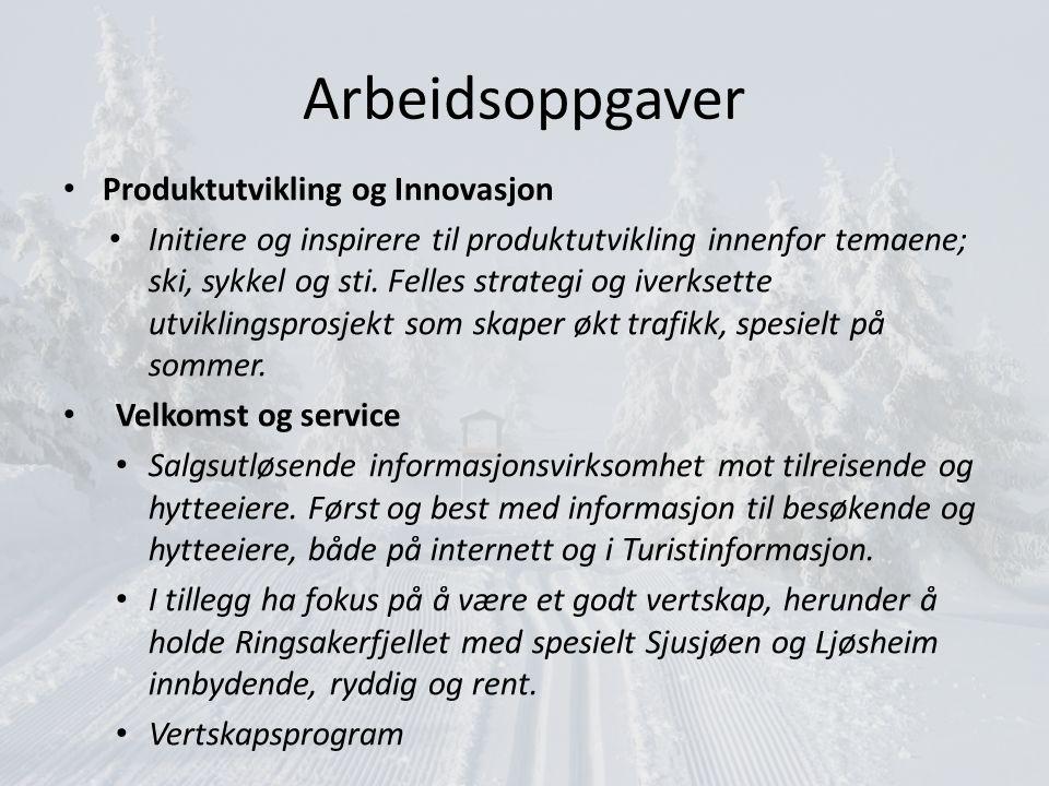 Arbeidsoppgaver Produktutvikling og Innovasjon