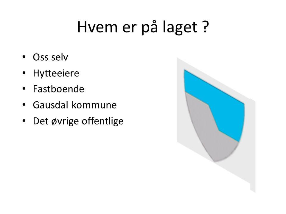 Hvem er på laget Oss selv Hytteeiere Fastboende Gausdal kommune