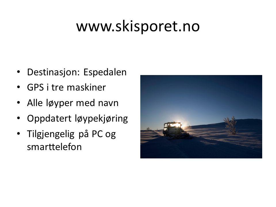 www.skisporet.no Destinasjon: Espedalen GPS i tre maskiner