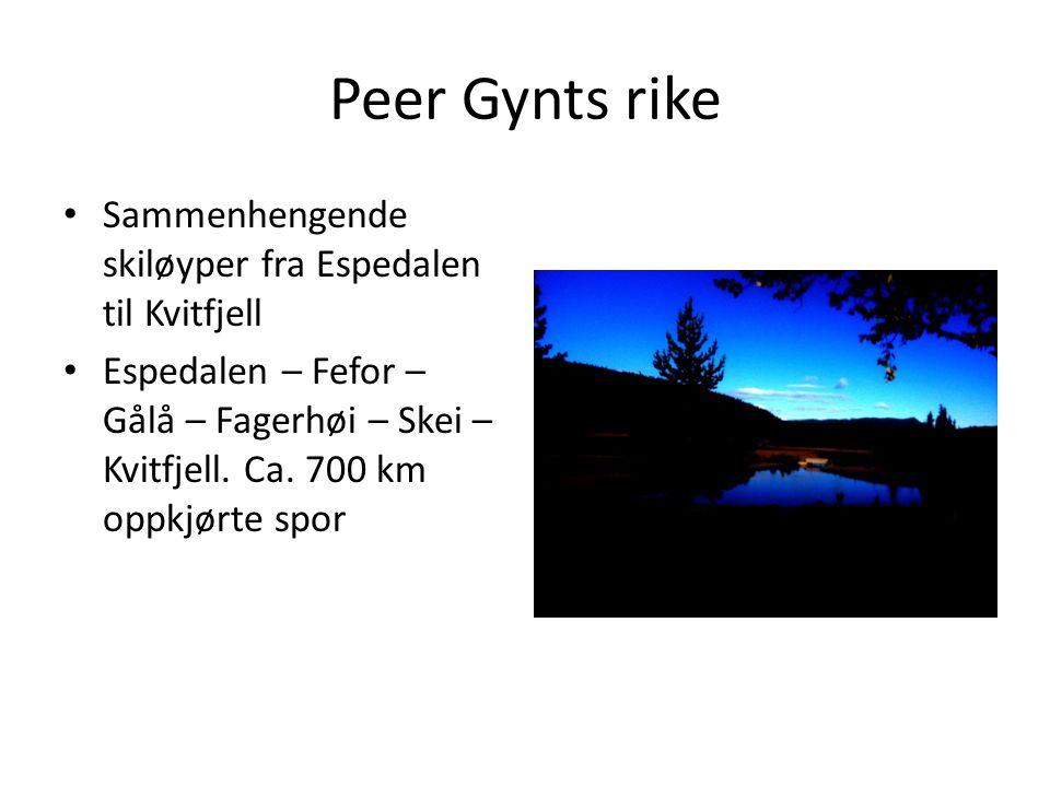Peer Gynts rike Sammenhengende skiløyper fra Espedalen til Kvitfjell