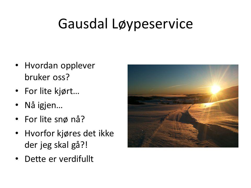 Gausdal Løypeservice Hvordan opplever bruker oss For lite kjørt…