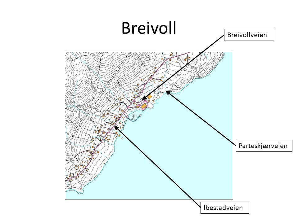 Breivoll Breivollveien Parteskjærveien Ibestadveien