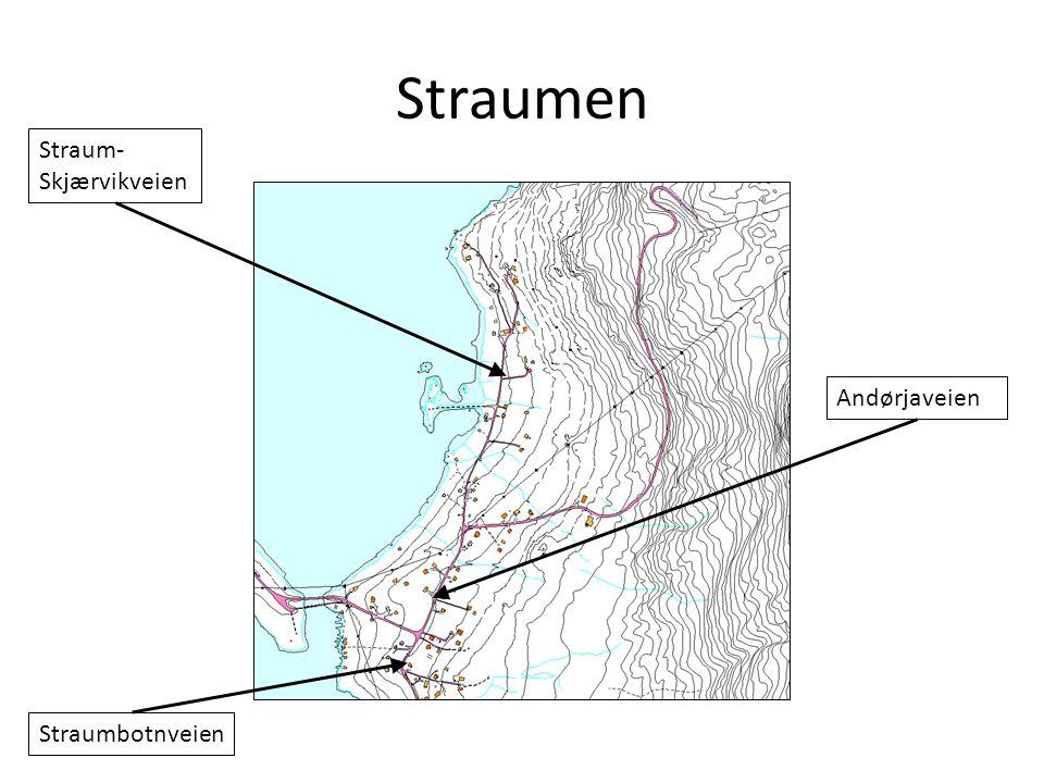 Straumen Straum-Skjærvikveien Andørjaveien Straumbotnveien