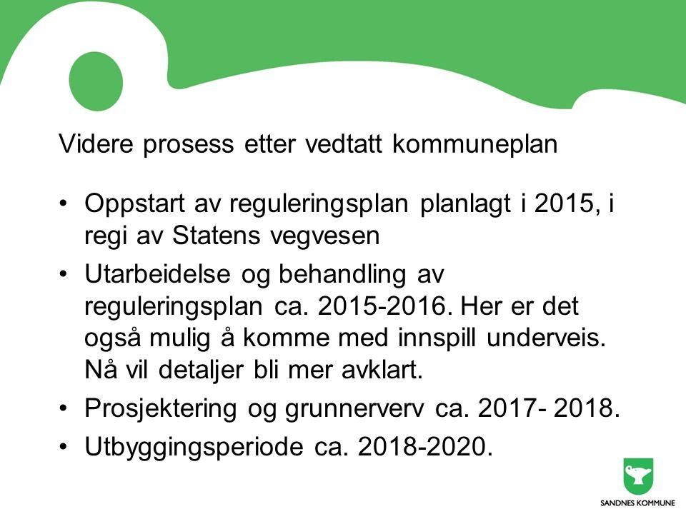 Videre prosess etter vedtatt kommuneplan