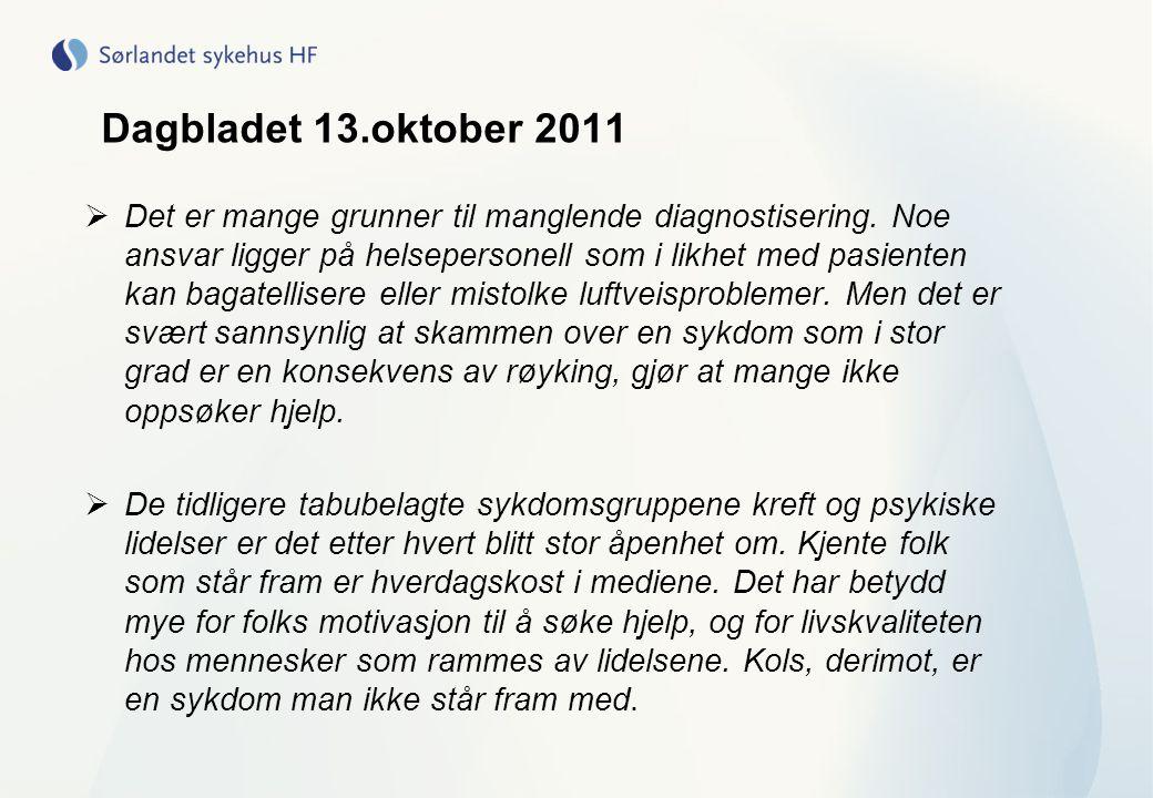 Dagbladet 13.oktober 2011