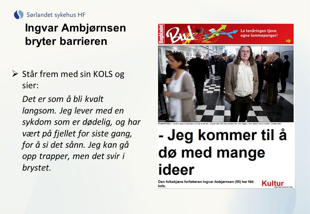 Ingvar Ambjørnsen bryter barrieren