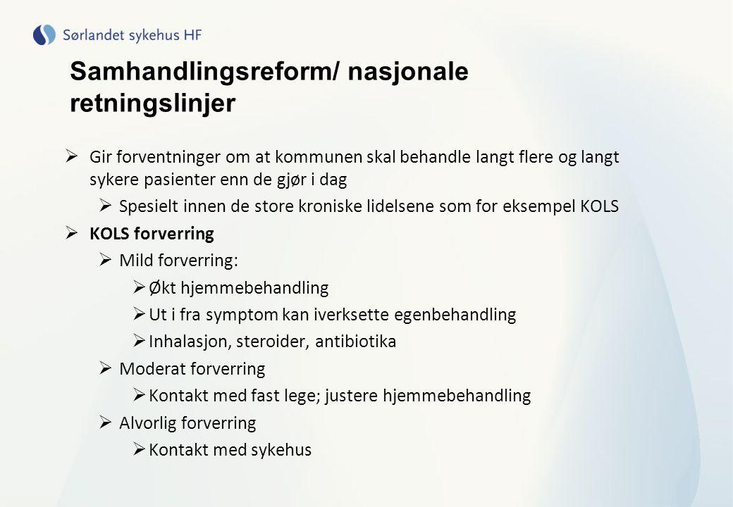 Samhandlingsreform/ nasjonale retningslinjer